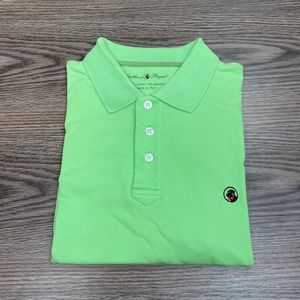 Southern Proper Solid Lime Green Polo Shirt M